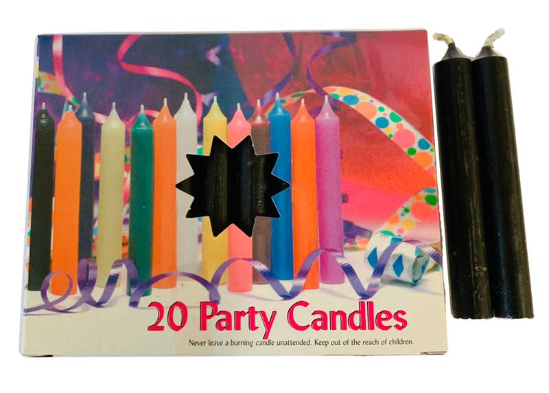 Black Chime Candle 20pk