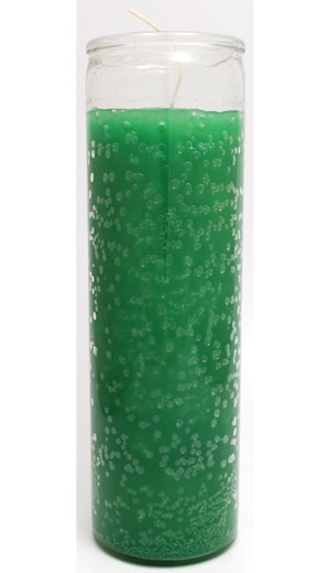 Green Plain Candle