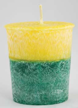 Patchouli Amber Palm votive(yellow)
