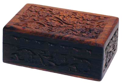 Handcrafted Box with Floral Design