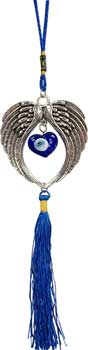 Angel Wings Evil Eye wall hanging