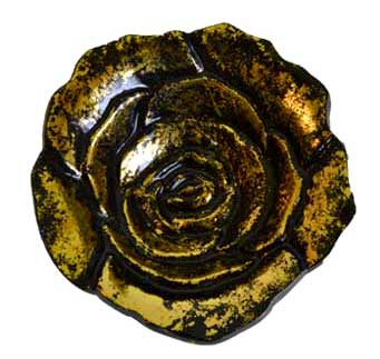"4"" Rose burner, aluminum antique gold finish"