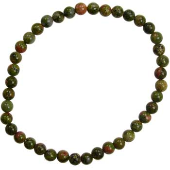 4mm Unakite stretch