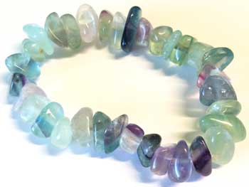 Fluorite gemstone bracelet stretch