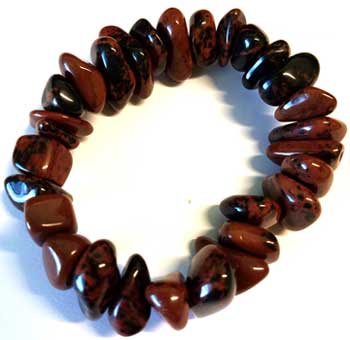Mahogany gemstone bracelet stretch