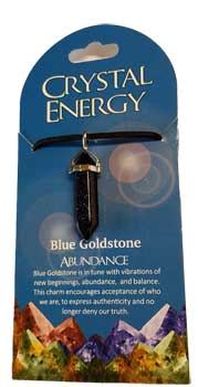 Abundance (blue goldstone) double terminated