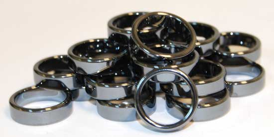 6mm Flat Hematite Rings (20/bag)
