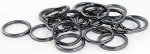 3mm Hematite Rings (20/bag)
