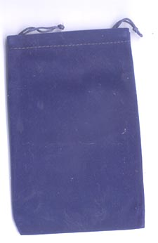 Bag Velveteen 4 x 5 1/2 Blue